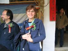 Me with Corsage at the launch of the World Ceramic Centre Project, Sanbao