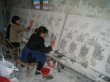 Painting on Porcelain Tiles, Jingdezhen