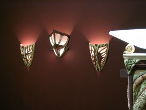 Sconces in Robert Archambeau: Artist, Teacher, Collector